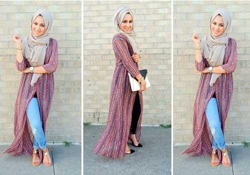 Fashion Style Jalan Jalan Santai Hijab Simple Terbaru 2015