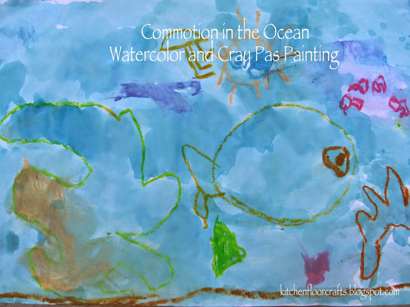 Kitchen Floor Crafts Quick Pick  Project Of The Week Commotion - Ocean floor painting