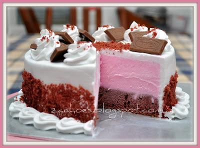 Resepi Red Velvet Ice-Cream Cake