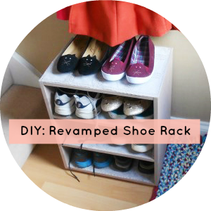 DIY Revamped Shoe Rack