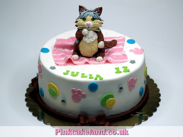 Birthday Cakes in London - cake with cat