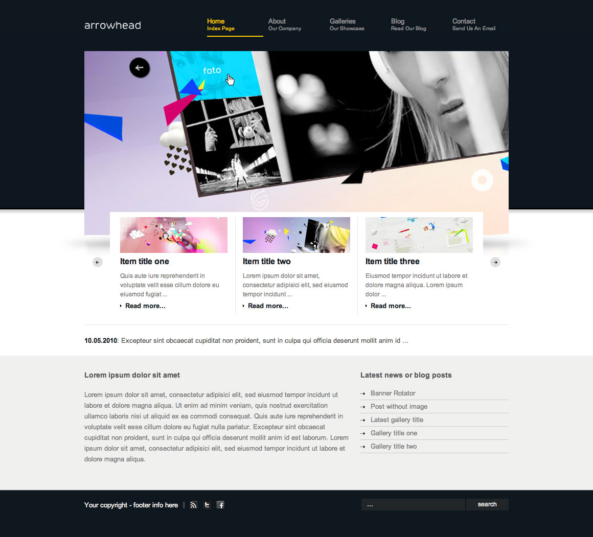 Arrowhead Wordpress Theme Free Download by ThemeForest.