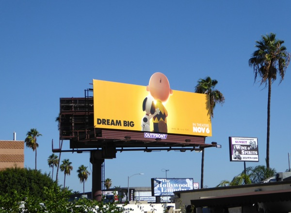 Peanuts Movie extension billboard