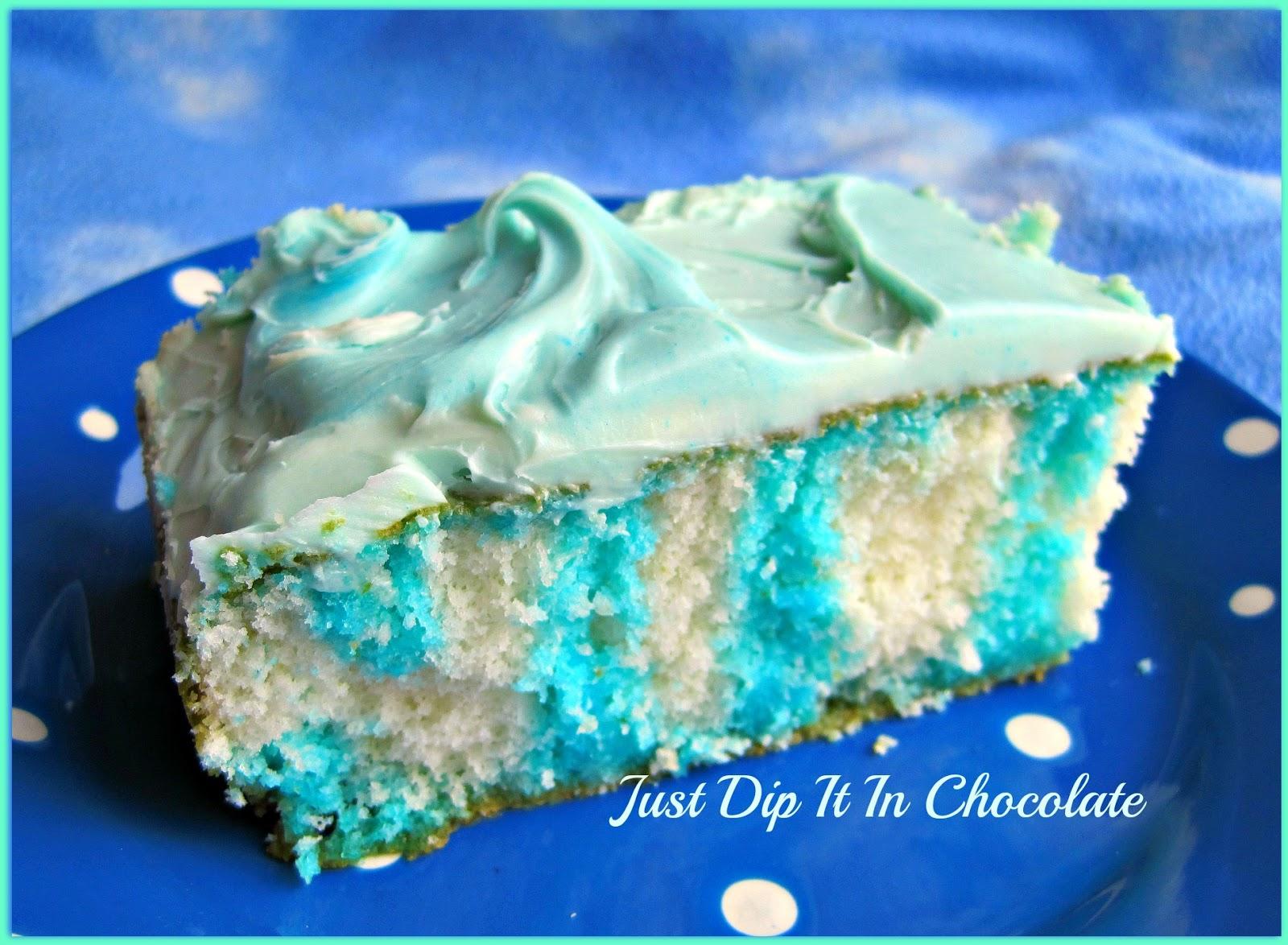 Blue Jello Poke Cake Berry Blue Jell-o Poke Cake