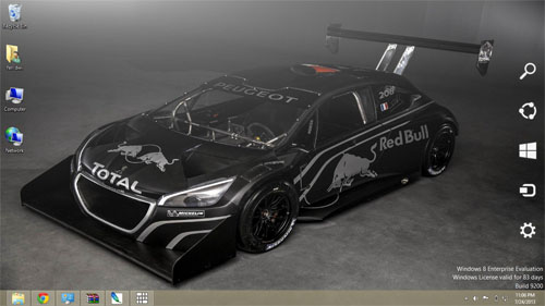 Peugeot 208 T16 Pikes Peak Super Car Theme For Windows 7 And 8