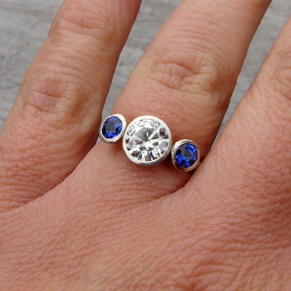 brilliant accents blue and watch milgrain moissanite forever with sapphire ring engagement