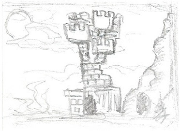 Tower Castle Drawing