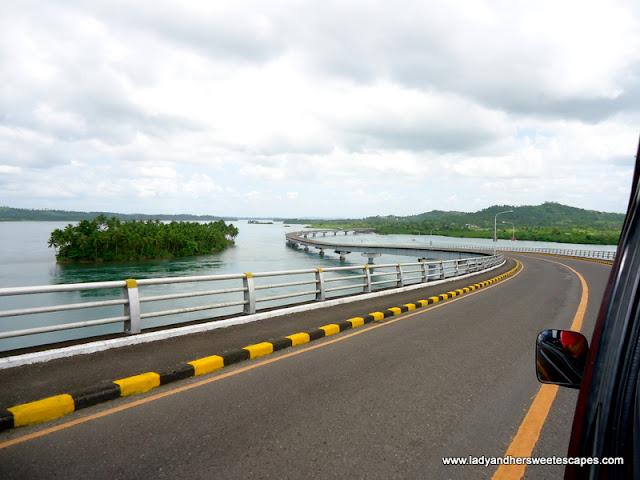 San Juanico Bridge view in Leyte tour