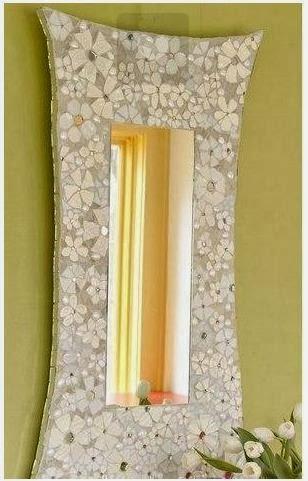 C mo decorar un espejo con platos rotos lodijoella - Como decorar un espejo ...