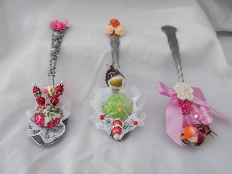 Altered Tea Spoon Trio