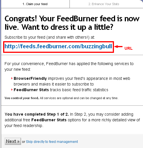Setup Feedburner For Blogger