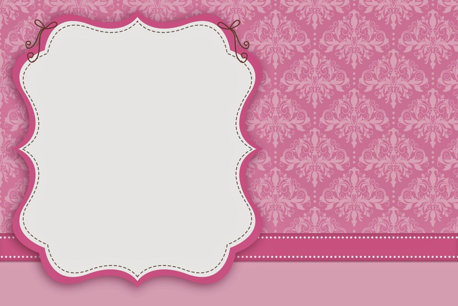 Damascos Rosa: Invitaciones para Imprimir Gratis. | Ideas y ...
