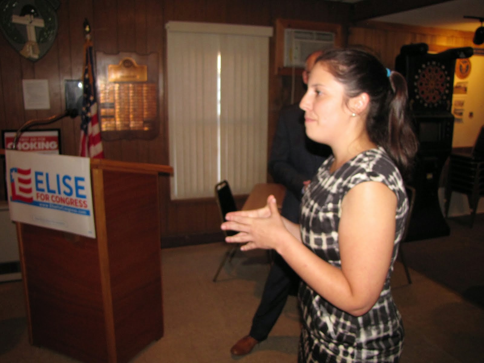 Elise Stefanik Addresses Crowd in Tupper Lake