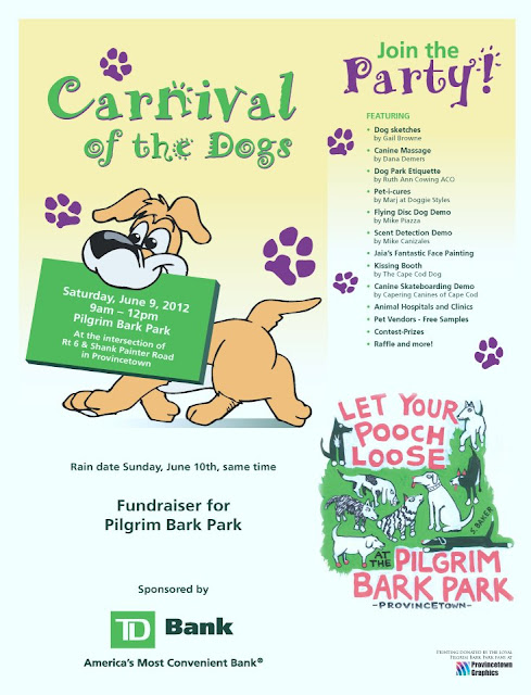 June 9 - Carnival of the Dogs - Fundraiser for Pilgrim Bark Park 9am - Noon