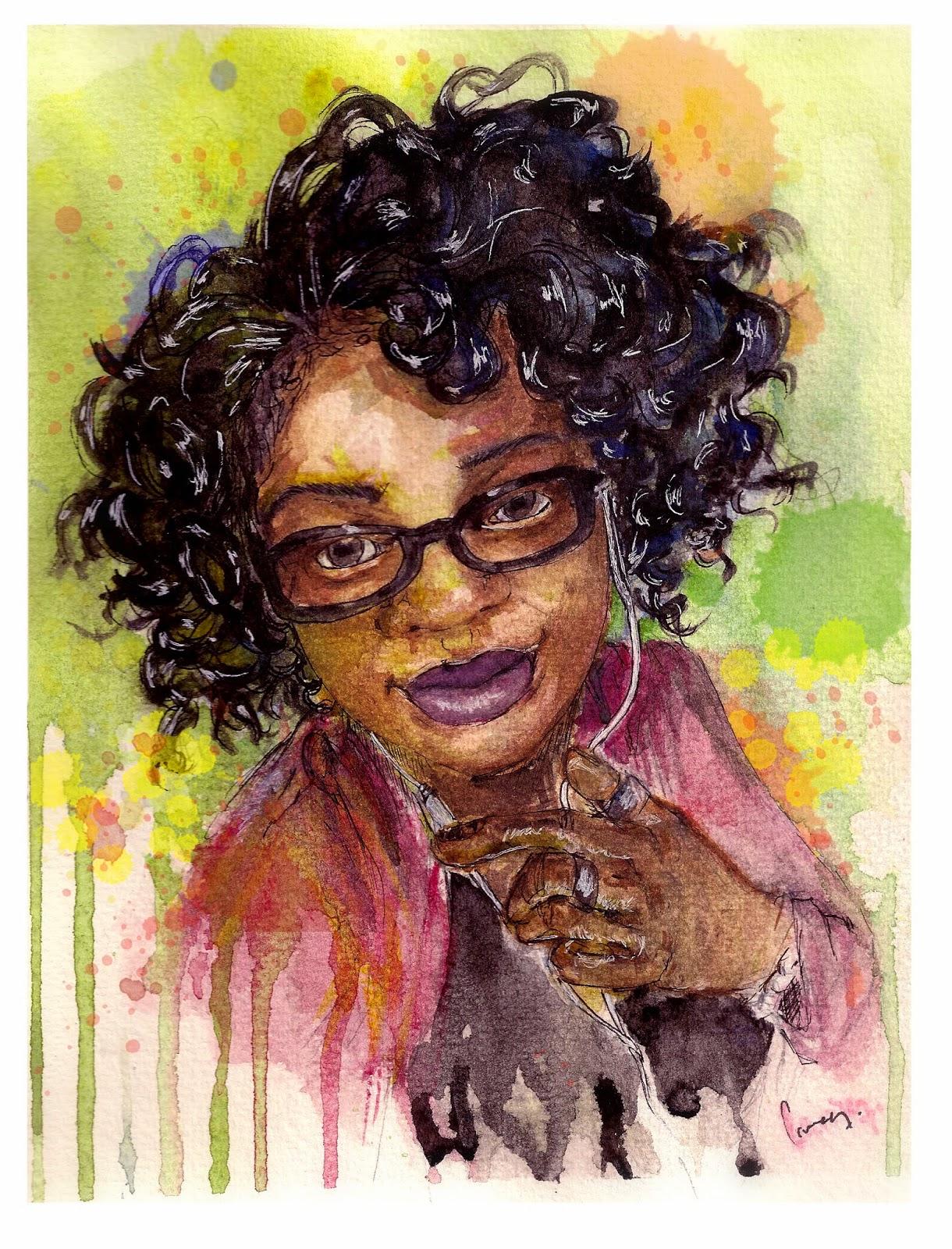 black woman, nappy girl, dessin