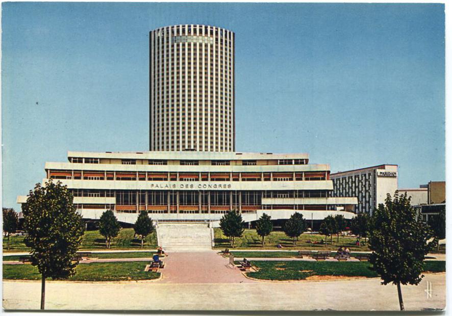 1973 la construction du palais des congr s paris unplugged for Hotel porte maillot