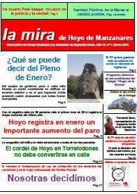 La mira de Hoyo de Manzanares. Enero 2014