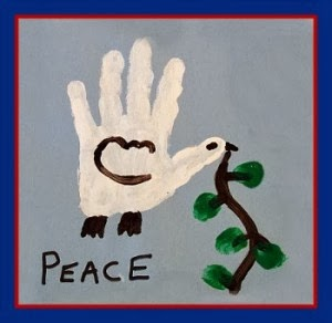dove handprint martin luther king, jr kids craft