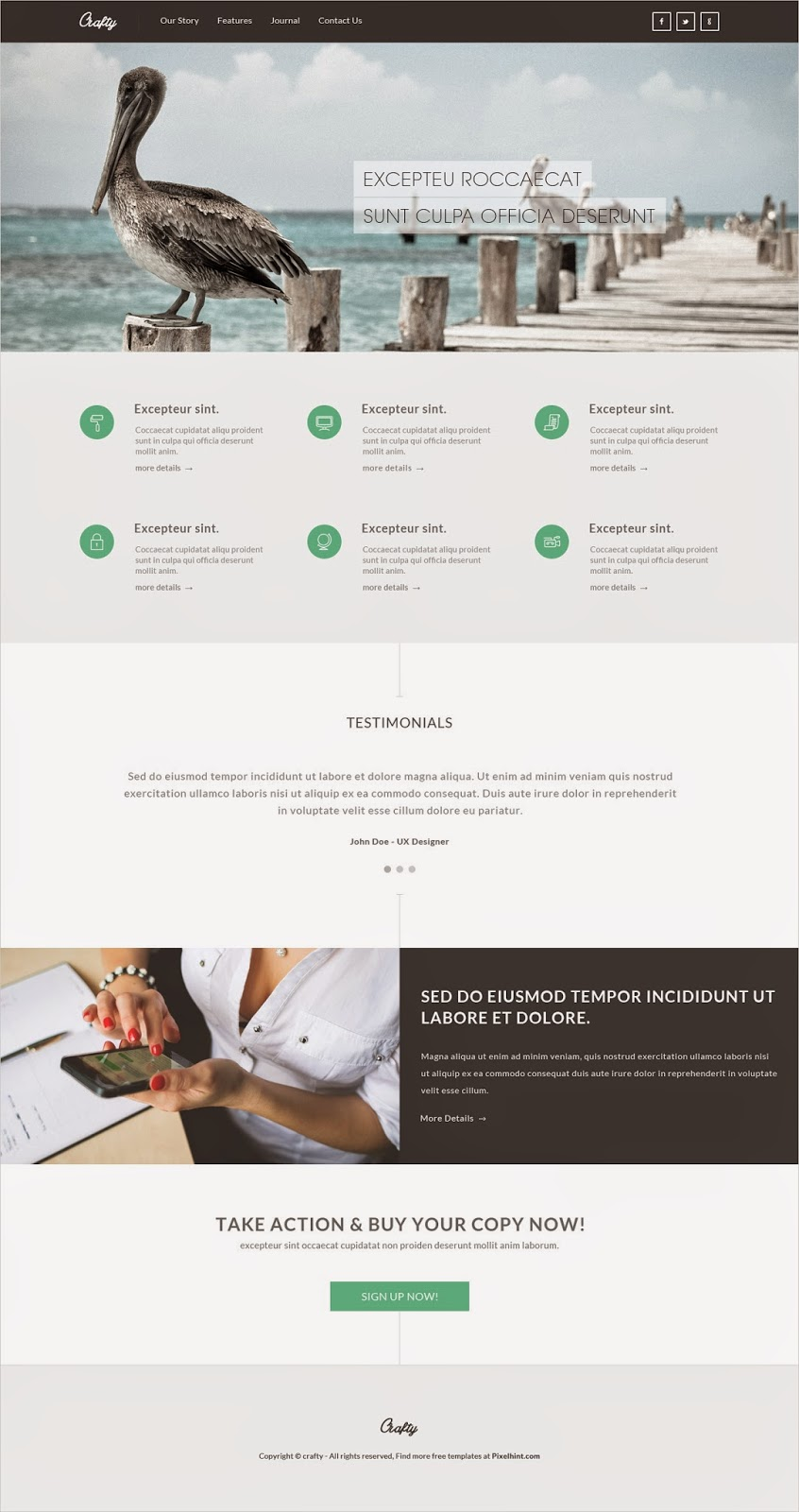 Elegant and Clean PSD Template