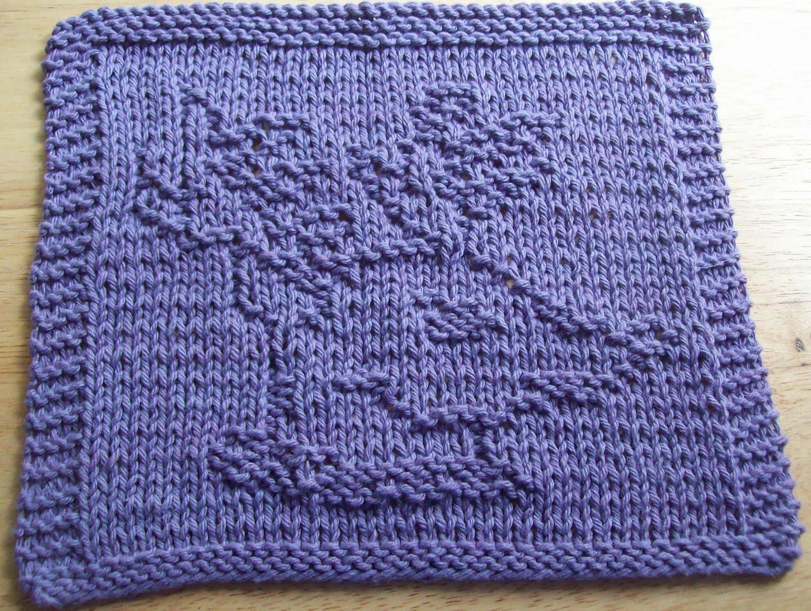 DigKnitty Designs: Reindeer Face Knit Dishcloth Pattern