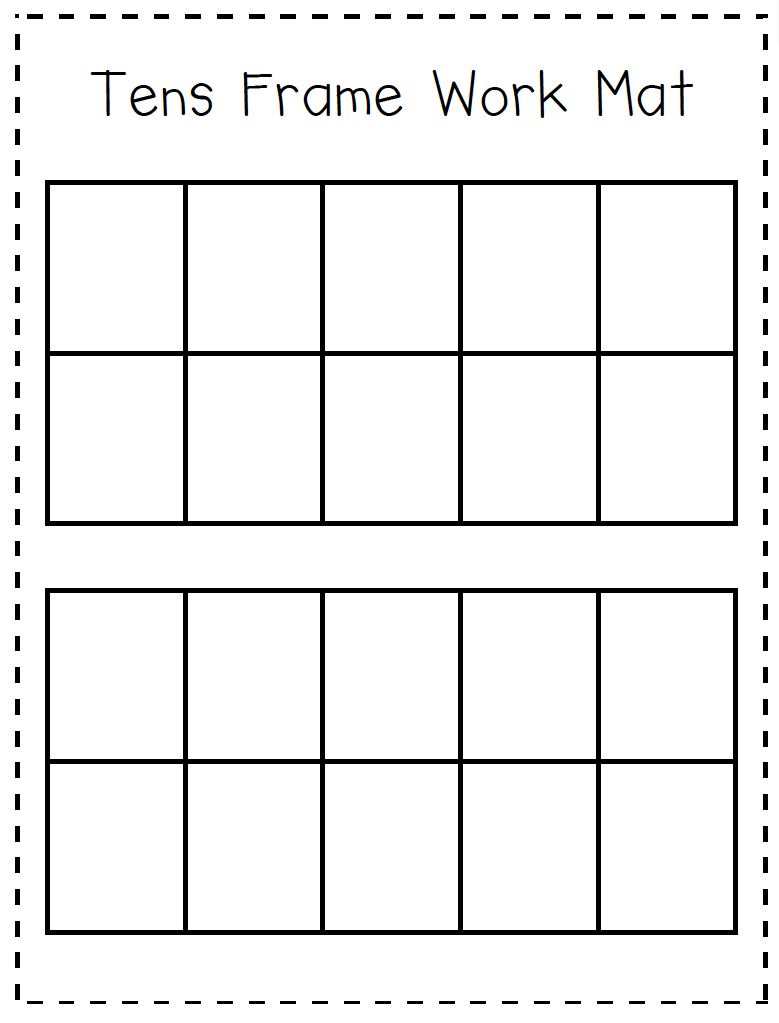 Ten Frame Worksheets Kindergarten Kindergarten Kids At