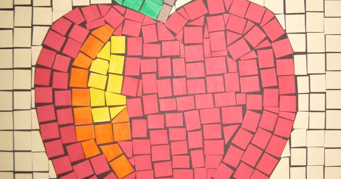 mosaic craft for kids ~ easy arts and crafts ideas