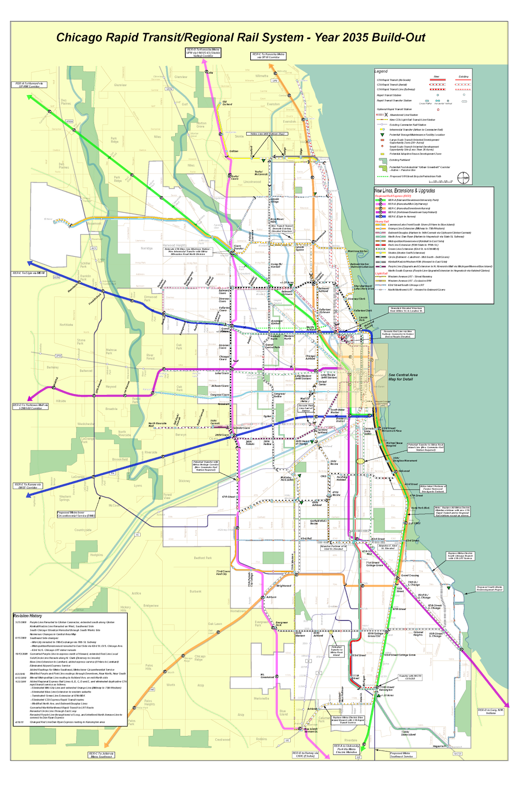 A Vision for Chicago Rail in 2035 not mine though Public