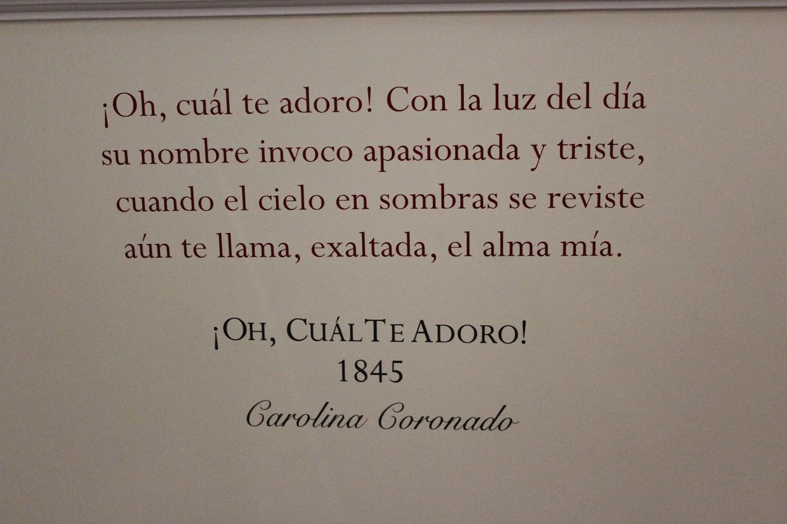 Cita de Carolina Coronado en el Museo del Romanticismo