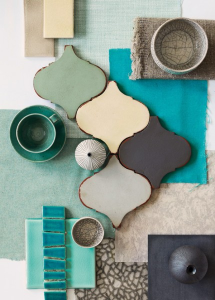 Palette turquoise