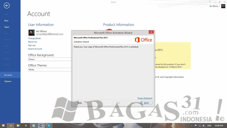 Cara Aktivasi Office 2013 Permanent Melalui Skype 5