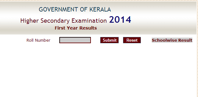 Kerala HSE Plus One Result 2014
