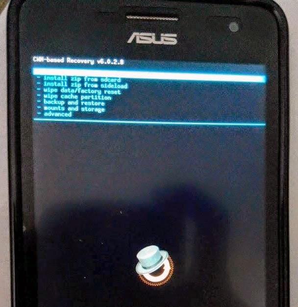 Install CWM Recovery Asus Zenfone 5 Terbaru | Menggunakan PC
