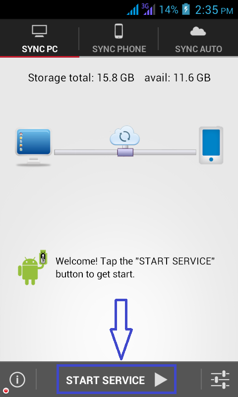Start Service, Software Data Cable