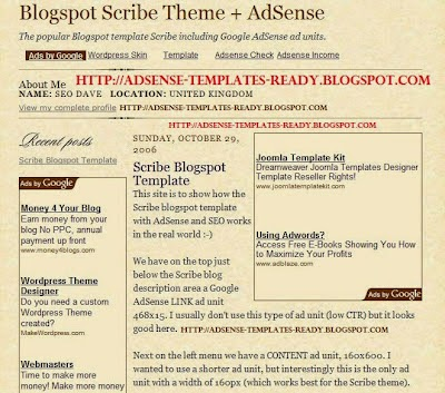 scribe ads ready blogger template 2014 for blogger or blogspot ,simple blogger template 2014 2015,ads ready theme for blogger,best simple template for blogger 2014 2015