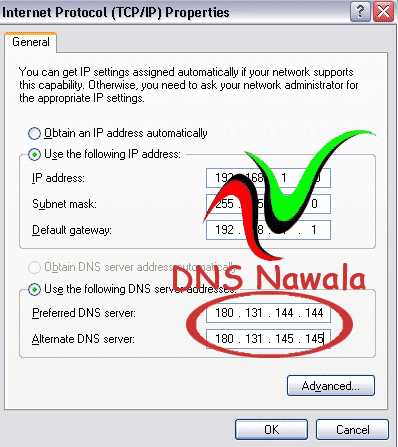 Yusuf Blog: Cara Setting DNS Nawala Pada Windows XP, Vista Dan 7