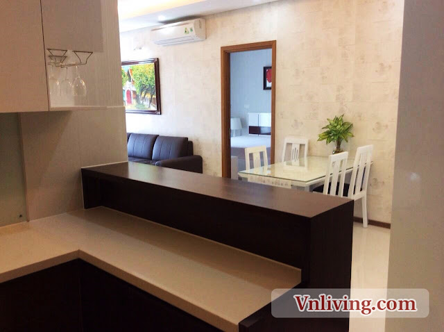 Mini bar in Thao Dien Pearl apartment