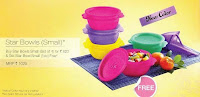 Tupperware 16oz Star Bowls 4+1