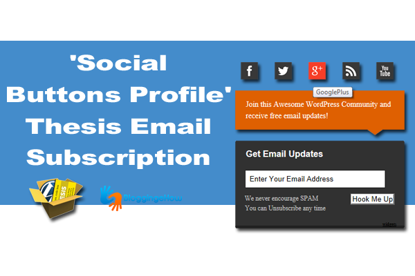 'Social Buttons Profile' Thesis Email Subscription
