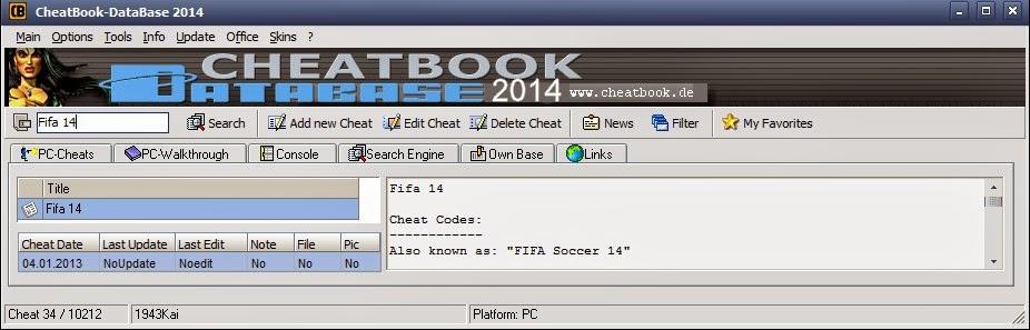 Cheat Book Database 2014 ## හොර කරලා ගේම් ගහමු....
