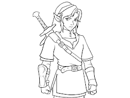 Coloring Pages Of Link And Zelda
