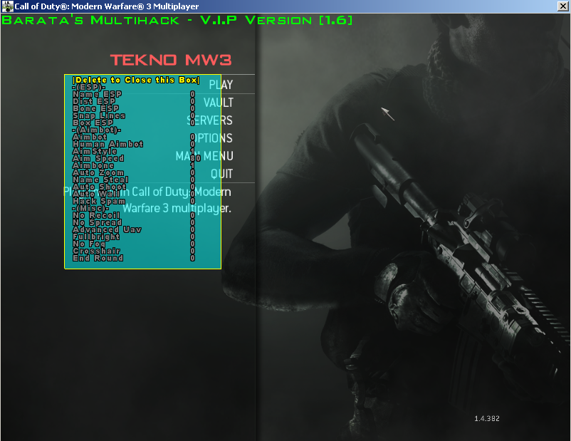 how to use multihack ver.21.1 mw3