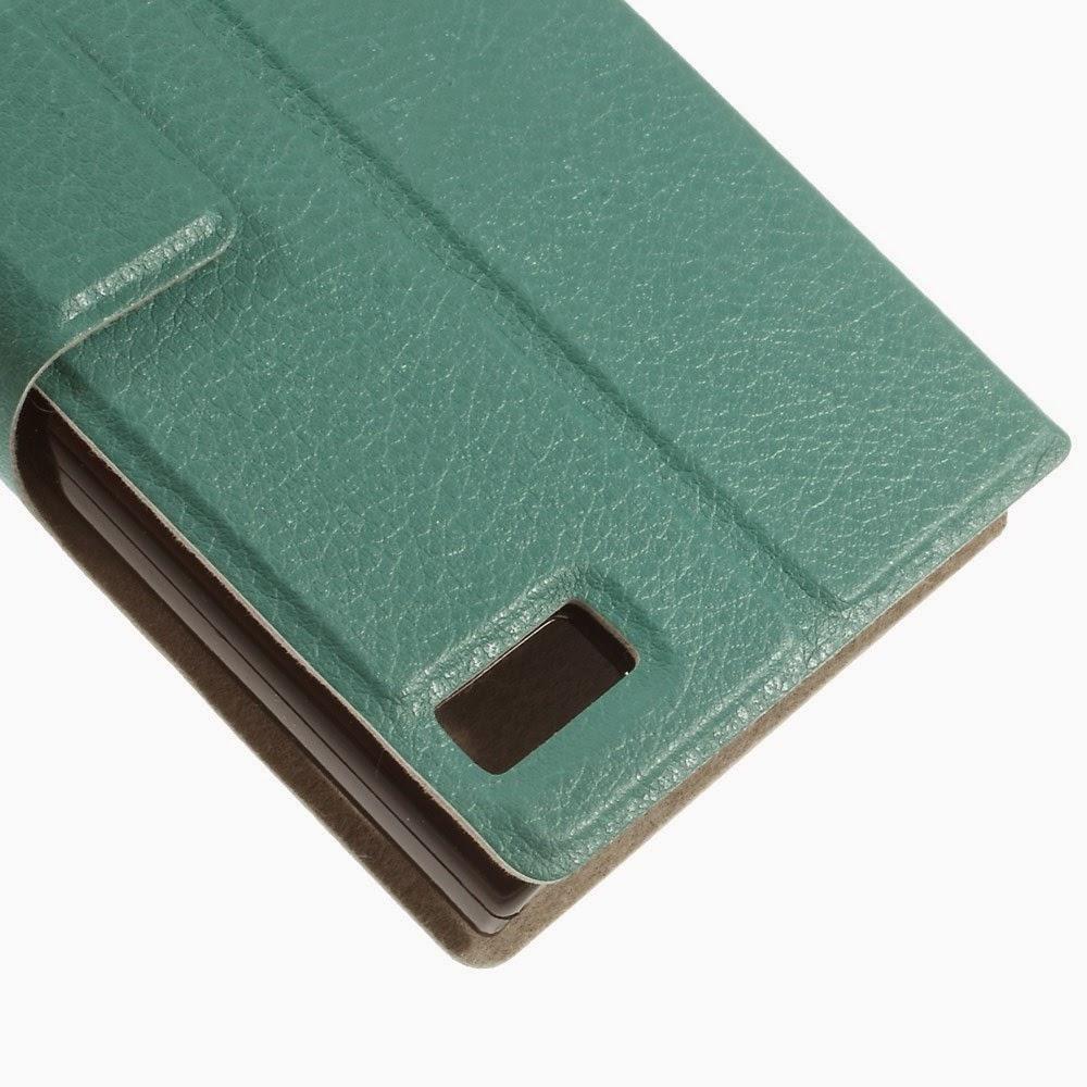 Leather-Case-BlackBerry-Z3-Jakarta-Slim-Litchi-Stand-Answer-Window-Green