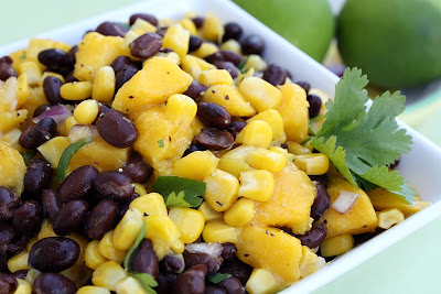 Recipe Black Bean Mango Salsa {Potluck Sunday} by Mommy's Kitchen