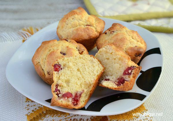 Soft, feather light Cranberry Muffins are the ideal addition to breakfast/brunch or a lunch box treat