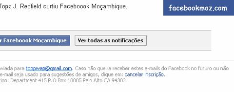 Aprenda a acabar com notificações do Facebook no Email neste artigo do Facebook Moz.