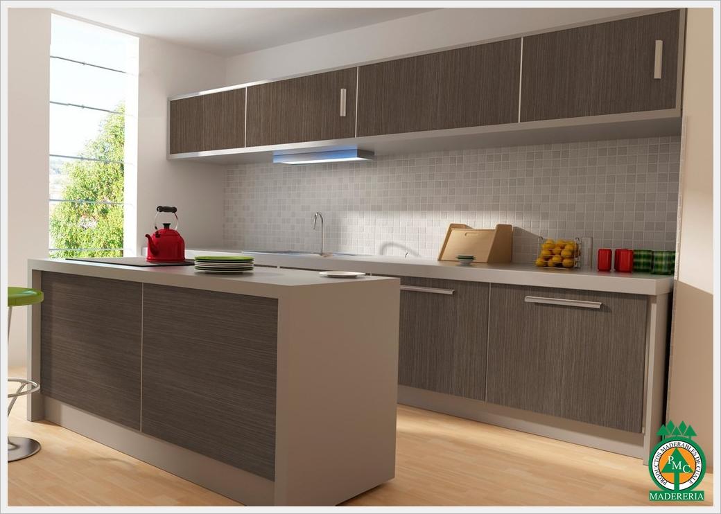gabinetes de cocinas de melamina