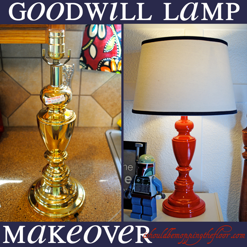I should be mopping the floor goodwill lamp makeover for Floor lamp makeover ideas