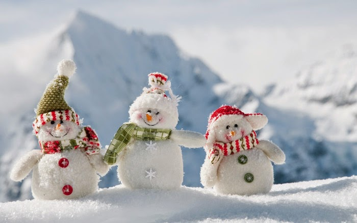 Cute Snowmen Wallpaper - Free Christmas Wallpaper