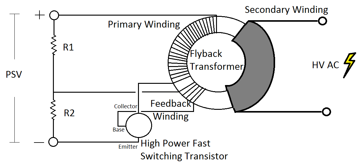 space propulsion systems  how to make high voltage circuit