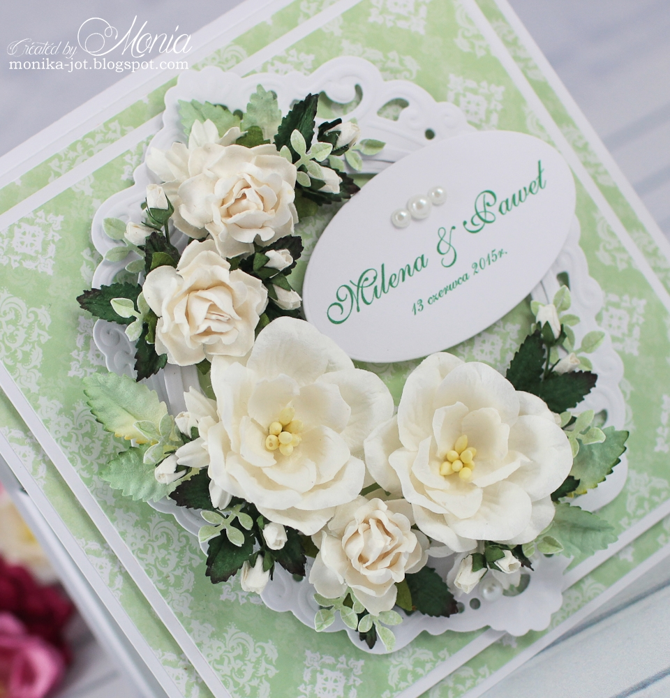 How to scrapbook wedding cards - Today I Want To Show You A Wedding Card In Green Colour